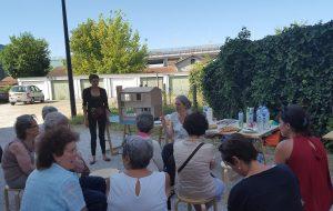 Le 16 juillet, les habitants de l'îlot de la rue Bradley se sont réunis autour de Nicole Concordet et de son équipe.
